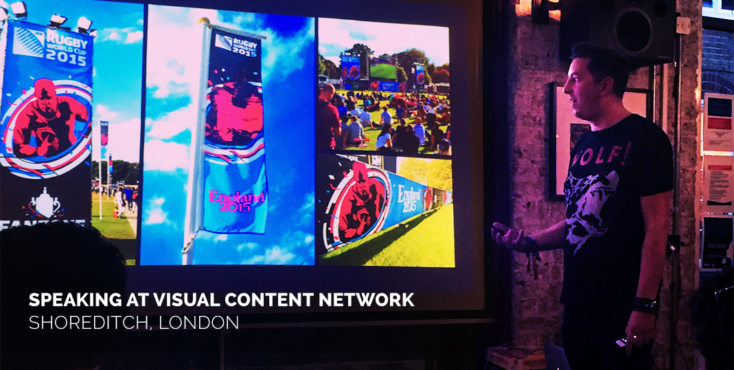 Speaking at Visual Content Network